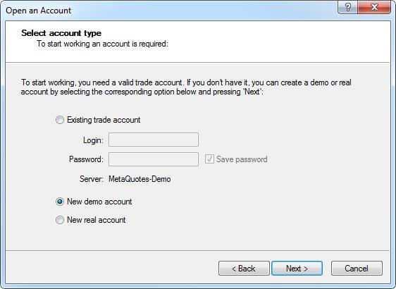 Metatrader Account Types